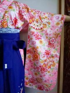 """Thumbnail of """"着物新品未使用ピンク花柄子供袴120cm"""""""