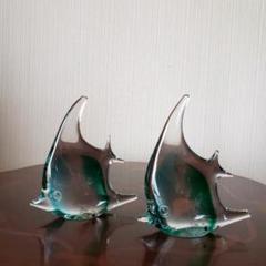 "Thumbnail of ""ガラス 置物 ペーパーウエイト KAMEI GLASS 魚 エンゼルフィッシュ"""