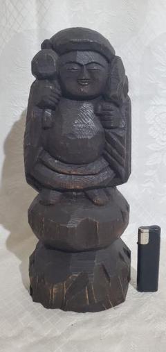 """Thumbnail of """"時代物 木彫の大黒様 (円空、木食) 仏像 仏教美術 骨董品、美術品"""""""