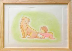 "Thumbnail of ""赤ちゃんと犬"""