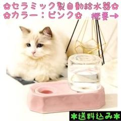 "Thumbnail of ""セラミックス⭐️ 給水器 自動給水器 水飲み器 水やり用品 動物 水碗 ピンク"""