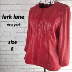 """Thumbnail of """"lark lane 【8】レザージャケット 長袖 ノーカラー"""""""