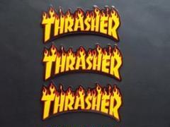 "Thumbnail of ""3枚◆防水ステッカー THRASHER スラッシャー スケボー ストリート"""