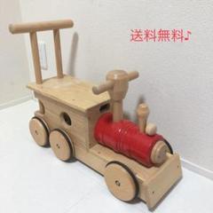 "Thumbnail of ""良品☘️ コイデ(KOIDE) 木製汽車ポッポ 手押し車 M-23"""
