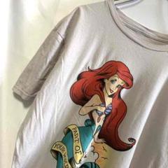 Disney ディズニー リトルマーメイド キャラクターTシャツ アースカラー