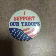 """Thumbnail of """"米軍☆I-support✩our-troops✩缶バッチ"""""""