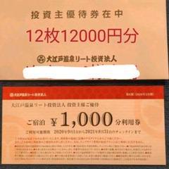 "Thumbnail of ""(値下げ)大江戸温泉株主優待券1000円12枚(12000円)"""