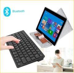 """Thumbnail of """"Bluetoothキーボード ワイヤレスキーボード 薄型 PC スマホ 黒"""""""
