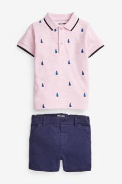 "Thumbnail of ""next ボート刺繍入りポロシャツ&ショートパンツセット"""