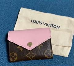 LOUIS VUITTON ルイヴィトン  三つ折り財布 ピンク ブラウン