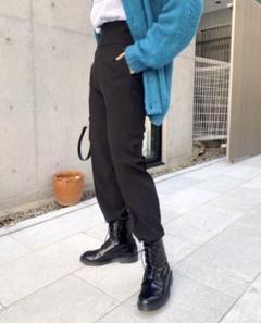 """Thumbnail of """"【新品】フーズフーギャラリー カマーバンド テーパード スラックス ブラック 黒"""""""