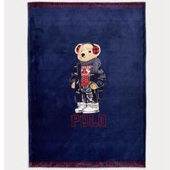 "Thumbnail of ""ポロ ラルフローレン ブランケット POLO bear ポロベア クマ 毛布 紺"""