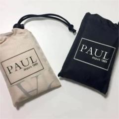 """Thumbnail of """"PAUL エコバッグ ブラック アイボリー 2つセット パン屋さん"""""""
