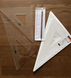 """Thumbnail of """"三角定規 UCHIDA 内田製 30cm型 目盛りなし"""""""