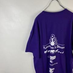 "Thumbnail of ""C502 ギルダン ワンポイントロゴ バックプリント XL 紫 半袖Tシャツ"""