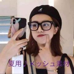 """Thumbnail of """"KANGOL メッシュ素材 夏用♪ハンチング ベレー帽黒 黒"""""""