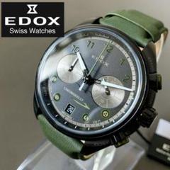"Thumbnail of ""【新品】エドックス EDOX クロノラリー スイス製 ブラック盤色 メンズ腕時計"""