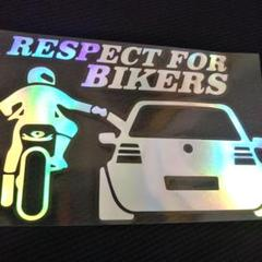"""Thumbnail of """"Respect for bikers(バイク左) ステッカー プリズム 新品"""""""