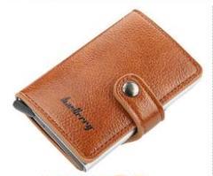 """Thumbnail of """"多機能カードケース スキミング防止 スライド式薄型軽量カード財布(ブラウン)"""""""