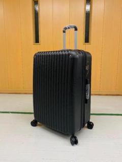 """Thumbnail of """"中型軽量スーツケース 8輪静音キャリーバッグ TSAロック付き Mサイズ 黒"""""""