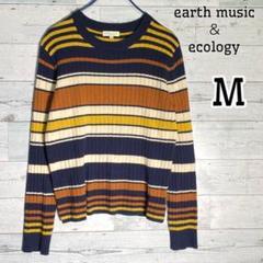 a506 earth music&ecology ★ ニット マルチボーダー