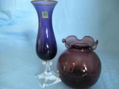"Thumbnail of ""HOYAクリスタル花瓶とガラスの丸い花瓶"""