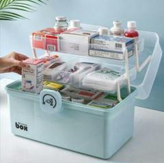 "Thumbnail of ""家庭用医薬箱の大きいサイズの多層薬品収納箱の宿舎大容量の救急箱の階層多機能の箱"""
