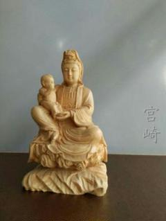 "Thumbnail of ""極上品  仏教美術品 送子観音 精密細工 祈る厄除  置物 開運風水"""