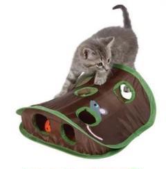 "Thumbnail of ""猫 おもちゃ ベル テント トンネル ハウス ハント ネズミ ボール"""
