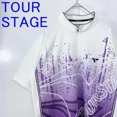 """Thumbnail of """"美品Tour Stage ツアーステージ ゴルフウェア 総柄ポロシャツ メンズM"""""""