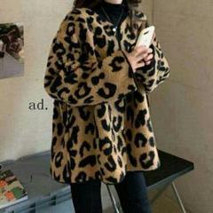 """Thumbnail of """"コットン春と冬の2021年韓国の野生緩い長袖のヒョウのコートの子羊のウールコ5"""""""