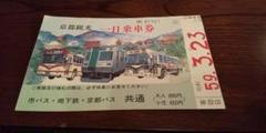 京都観光一日乗車券 昭和レトロ 1984年3月