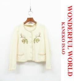 """Thumbnail of """"J059/美品 WONDERFUL WORLD ノーカラージャケット ウサギ"""""""
