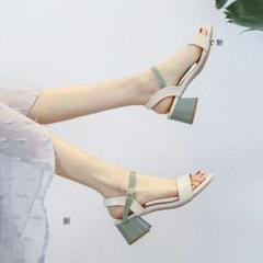 """Thumbnail of """"サンダル女性の夏2021年の新しい韓国語バージョン妖精スタイルのロー5S"""""""