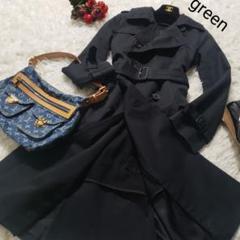 "Thumbnail of ""green HYKE トレンチコート ライナー付き レディース 黒 1 S相当"""