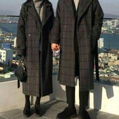 """Thumbnail of """"冬の新商品の韓国東大門ニコのコートの格子の女性の長い款の毛のオーバーの婦人服Q"""""""