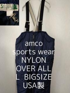 "Thumbnail of ""L USA製 amco sports wear ビッグ ナイロン オーバーオール"""