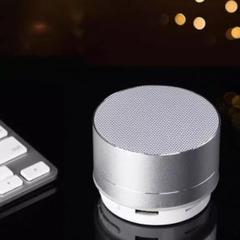 """Thumbnail of """"Bluetooth スピーカー  銀 ポータブル 小型 LED 軽量 音楽"""""""