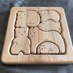 "Thumbnail of ""【知育玩具】天然木製 やわらかい動物パズル"""