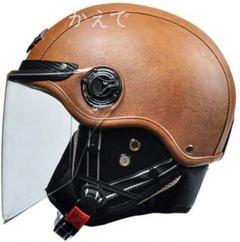 """Thumbnail of """"5【決算セール】◆ヘルメット バイク 半帽 メンズ レディース レトロ 革 マ"""""""
