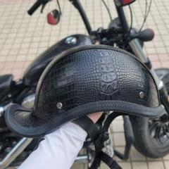"Thumbnail of ""バイク ダックテール ヘルメット ハーフ ハーレー ヘルメット オートバイ"""