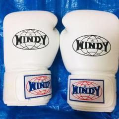 "Thumbnail of ""WINDY ウィンディー ボクシンググローブ 16オンス ホワイト 白"""