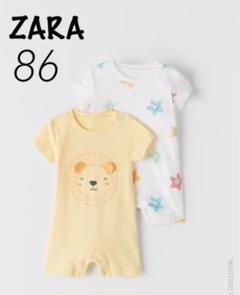 "Thumbnail of ""ZARA ベビー 新品 アニマル柄ショートオール 86 ライオン"""