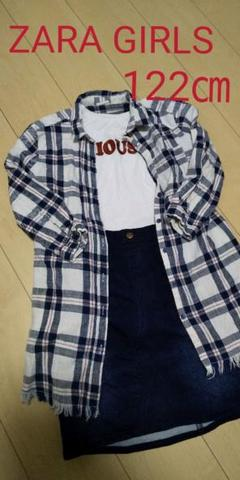 "Thumbnail of ""ZARA GIRLS☆シャツ ワンピース 122㎝☆"""