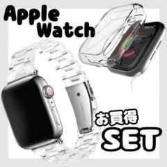 """Thumbnail of """"《セット》AppleWatch アップルウォッチ 時計 カバー ベルト クリア"""""""