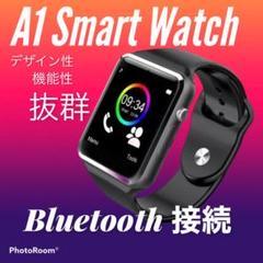 デザイン性抜群 A1 Smart Watch 男女兼用(ユニセックス) 黒
