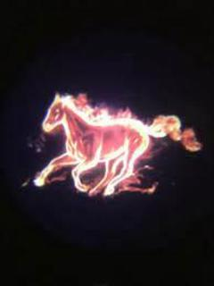 "Thumbnail of ""LEDドアカーテシライト 赤い馬 2個セット"""