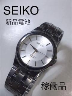 "Thumbnail of ""【値下げ】セイコーメンズクォーツ腕時計 稼働品"""