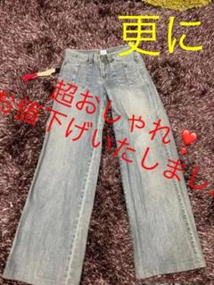 """Thumbnail of """"デニム ワイドパンツ ジーンズ サイズ26"""""""