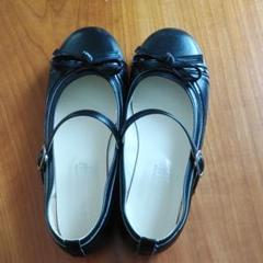 "Thumbnail of ""シンフォニック 黒 22cm ストラップシューズ フォーマル 卒業式 入学式 靴"""